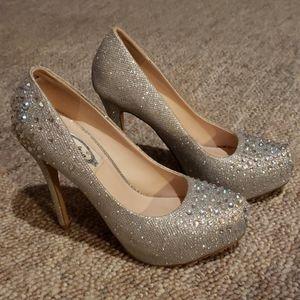 Beautiful sparkling crystal heels
